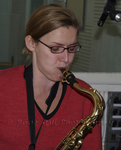 Photo of Jo Fooks - Humph's band (tenor saxophone and flute) 2006