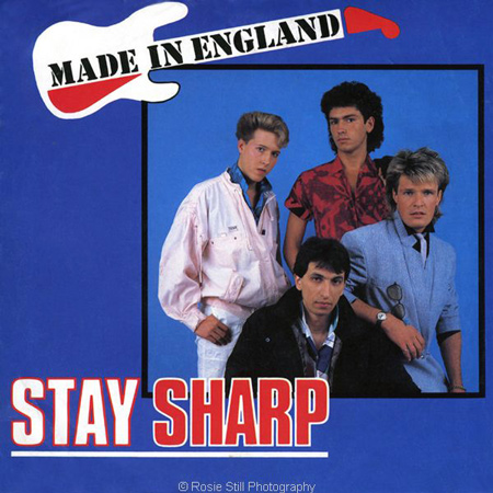 "Cover of single ""Stay Sharp"" by MADE IN ENGLAND 1985"