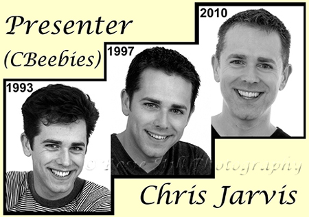 More photos of Cbeebies presenter Chris Jarvis, taken in 1993, 1997 & 2010
