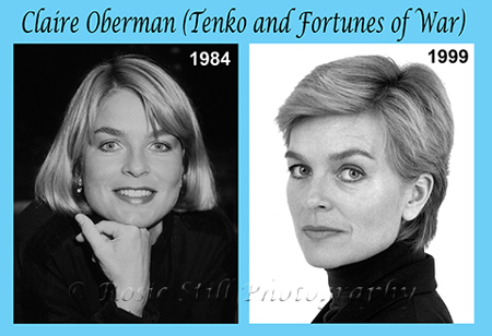 Photos of actor Claire Oberman 1984 & 1999