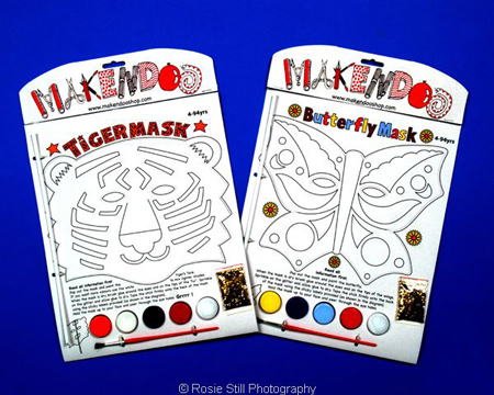 2 mask packs created and sold by Makendoo to be painted