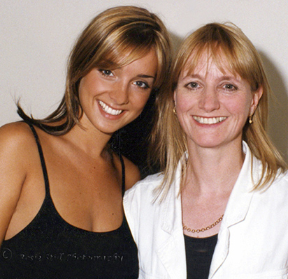 Colour photo of Me with Louise Redknapp (then Nurding) in 1997