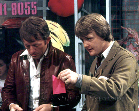 "Photo of Paul Daniels & Keith Chegwin 1982 (""Saturday Superstore"")"