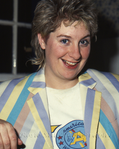 Photo of comedienne &actor Victoria Wood 1985